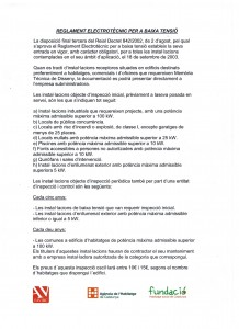 Reglamento Baja Tensión 001