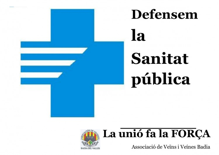 cartel concentración sanitat